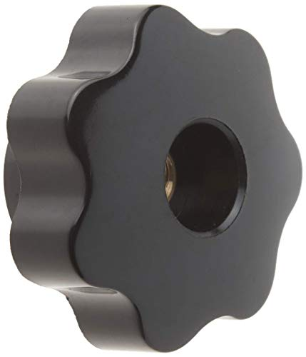 TINGB Star Head M8 - Perilla de sujeción (50 mm de diámetro, plástico), Color Negro