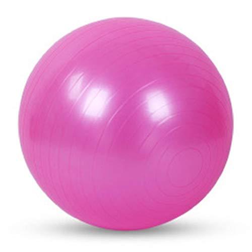 Sykooria Gymnastikball,Dicker Anti-Burst Pilates Ball,Rosa Yoga Ball Anti-Berst-Stabilitätsball,Fitness Ball 55cm,Büro,Hause,Fitnessstudio(inkl Ballpumpe)