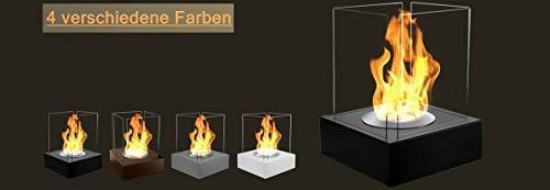 Feuerstelle 40x40x52 cm Ethanol-Kamin Gartenkamin Bio-Ethanolkamin **NEU** (grau)