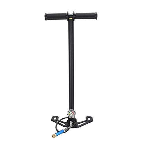 TUXING PCP Pump 4500Psi High Pressure Hand Pump 3 Stage Stainless Steel For Air Gun Hunting Stirrup Paintball Air Rifle 300bar 30mpa