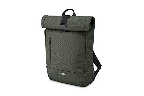 Molskine Metro RollTop - Mochila para Ordenador portátil, iPad, Tablet de hasta 15', Mochila para el Trabajo, tamaño 38 x 15 x 50 cm, Verde Musgo, ET20FMTRBKK6