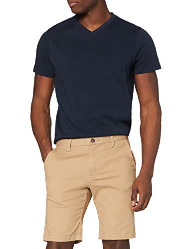 Marchio Amazon - MERAKI - Short Classic Chino, Pantaloncini Uomo, Beige (Beige), 36, Label: 36