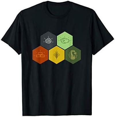 Brick Wood Rock Wheat Sheep T Shirt Board Game Geek product image