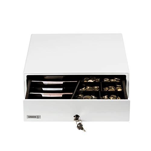 ANKER Kassenschublade MDX 13E weiß | kleine Größe, elektrisch | Preis-Leistung