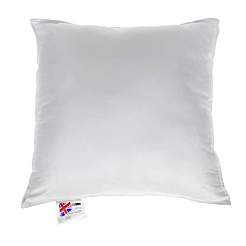 "HOMESCAPES Super Microfibre Cushion Pad 40 x 40 cm (16"" x 16"") Inner Insert Hypoallergenic Synthetic Cushion Filler Machine Washable"