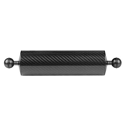Gazechimp Unterwasser Float Arm Carbon Floating Dual Ball Arm Tauchen Auftriebssystem Für Tauchen Tray Video Licht/Strobe (D60mm, 10 Zoll) - Schwarz, 254 mm