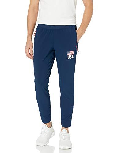 adidas Usav Pants W Track Pant Donna, Donna, Pantaloni da Tuta, DY4175, Collegiate Navy/Bianco, M Tall
