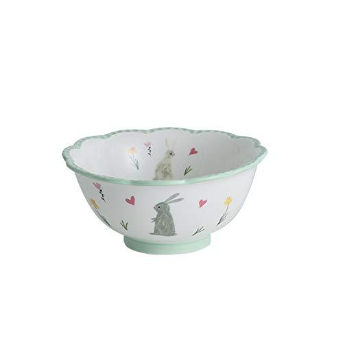 Tazón de cereal Vajilla platos platos conjunto estilo nórdico corte conejo occidental cerámica plato plato cubiertos microondas ensalada ensalada de arroz plato de carne Tazones de sopa para cocina
