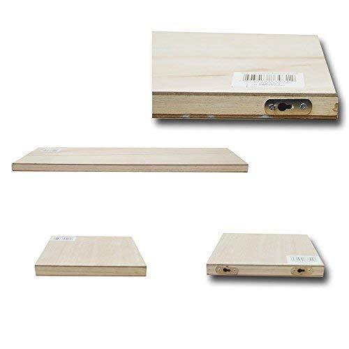 DRULINE Set van 3 Wandboard Wandplank Board plank plank vloer boekenplank beuken