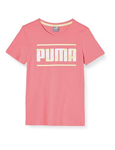 PUMA Mädchen Alpha Tee G T-Shirt, Bubblegum, 104