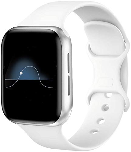 Hviosum Correas Compatible para Apple Watch 44mm 42mm 40mm 38mm, Bandas de Reloj de Repuesto de Silicona Suave para iWatch Series 5/4/3/2/1