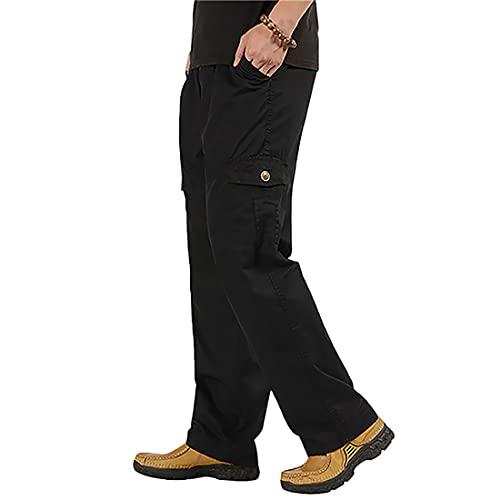 Litthing Hosen Männe Streetwear Casual Jogging Sportbekleidung Beiläufige Jogginghosen Männlich Cargo Pants Harem Lange Hosen Jogginghourshose Outdoor Wandern Trekking (Schwarz, 3XL)