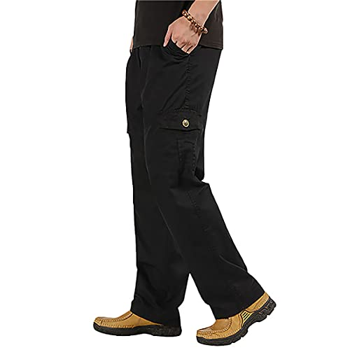 Litthing Men Pants Loose Work Trousers for Men with Big Pockets Mens Cargo...