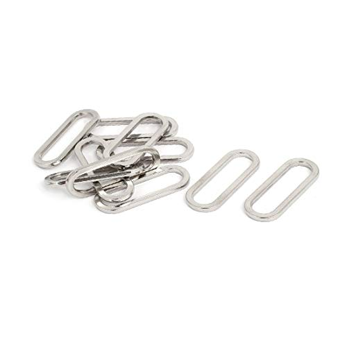 New Lon0167 44mmx16mmx3mm Oval Featured Shaped Adjustable Strap Reliable Efficacy Slider Suitcase Bag Fitting 10pcs(id:4b4 4d 5e 381)