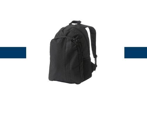 Sac à dos en toile nylon 44 x 30 x 19 cm de couleur Noir/Noir - Visiodirect -