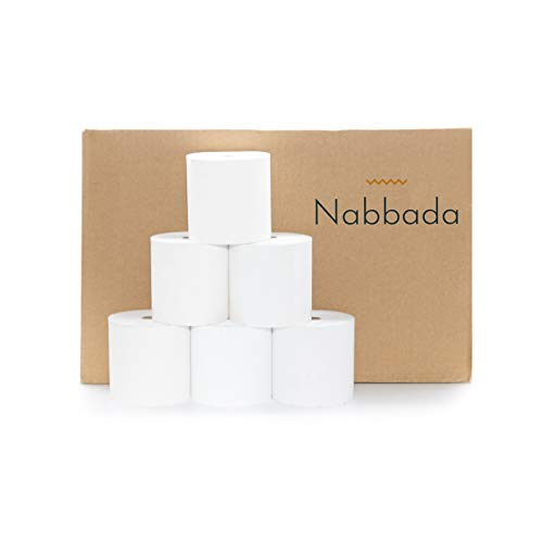 Nabbada - 18 Rollos de Papel Térmico 80x80x12 de 58 Gramos sin Bisfenol A ideales para Impresoras Térmicas, TPV y Cajas Registradoras