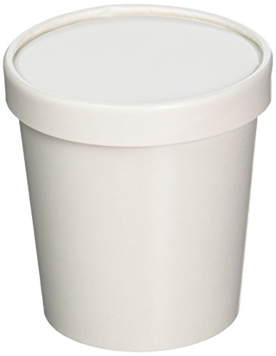 25ct White Pint Frozen Dessert Containers 16 oz