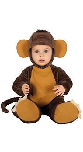 braunes Affen Baby Kostüm - Größe 74-92 - Tier AFFE Fasching Karneval, Größe:74/80