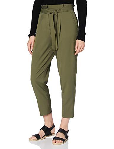 New Look Miller Tie Waist, Pantalon Relaxed Femme, Vert (Dark Khaki ), 40 EU (Taille fabricant: 12)
