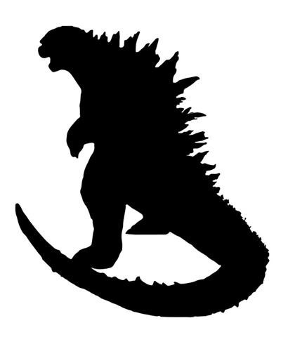 Godzilla v2 Decal Sticker - Peel and Stick Sticker Graphic - - Auto, Wall, Laptop, Cell, Truck Sticker for Windows, Cars, Trucks