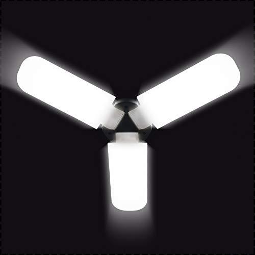 LED Garage Light Equivalent 400W,5000LM 6000K Led Light Bulb,E27 Medium Base, Led Deformable Light,Workshop Light for Workshop, Workbench, Barn, Warehouse