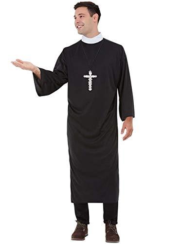 Funidelia   Disfraz de Cura para Hombre Talla XXXL Sacerdote, Monje, Papa, Profesiones - Negro