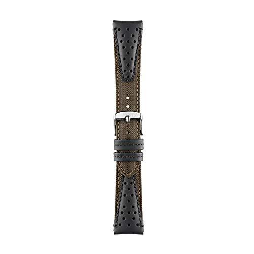 Morellato Cinturino unisex, Collezione SPORT, mod. Volley, in tessuto cordura e pelle - A01X4747110, 22mm