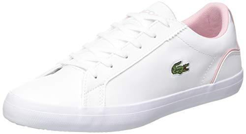 Lacoste Damen Lerond 0120 1 CFA Sneaker, Weiß Wht Lt Pnk, 37.5 EU