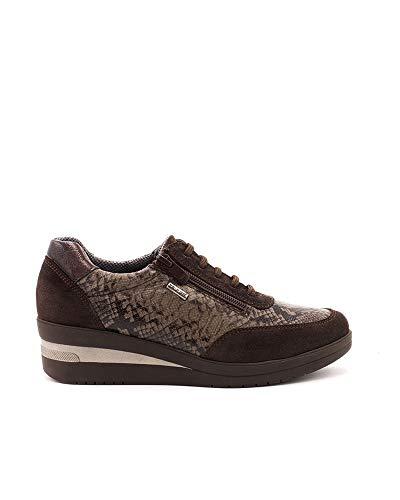 Olivia Nature Zapatos de Mujer. Zapatos de Estilo Casual Deportivo. Fabricados en Piel. Modelo Dominica.