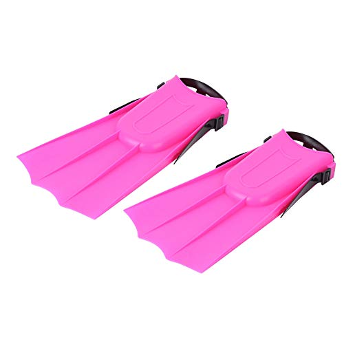 【 】 Lightweight 269g Swimming Flippers, Snorkeling Short Fins, Red Lightweight Swimming Fins, Diving Equipment for Swimming Water Sports Adult Children(Swimming fins)