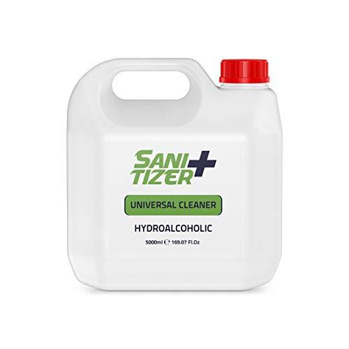 Sanitizer + hidroalcoholico 5 Litros Gran formato   Sanitizer universal para manos y todo tipo de superficies   Desinfectantar antibacterial universal para todo tipo de superficies