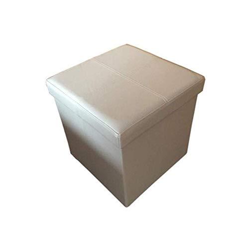 A/N - Taburete cuadrado con asiento otomano para cambio de silla - Pu caja de almacenamiento para el hogar taburete acolchado plegable para almacenamiento en el hogar