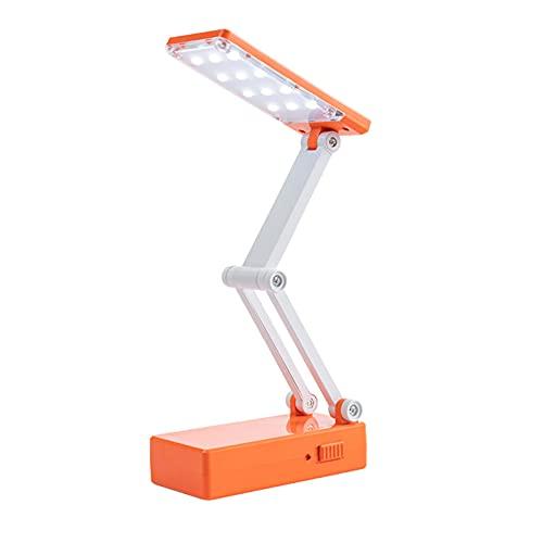 Luz de mesa naranja 12 LED plegable USB recargable con iluminación brilloHome...