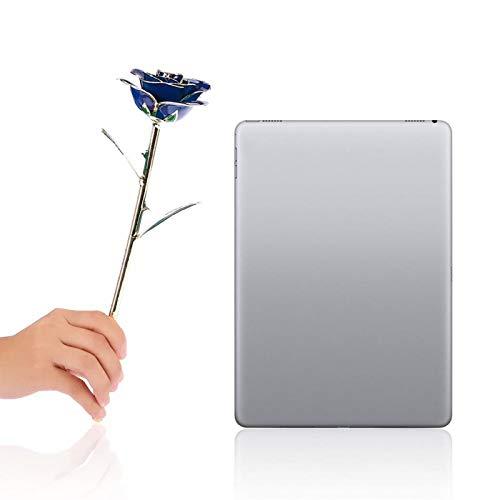 Real Everlasting - Rosa Dorada de 24 Quilates bañada en Oro, Ramo de Flores para el día de San Valentín, Boda romántica Artificial (Azul)