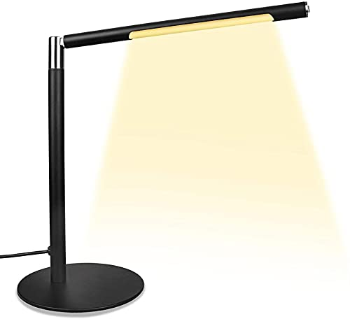 HZNZYJ Lámpara de Escritorio Protección Ocular LED Brillo Regulable 3 Modo de Color Lémpara de Escritorio de Lectura Adecuado para el Dormitorio de la Oficina en el hogar