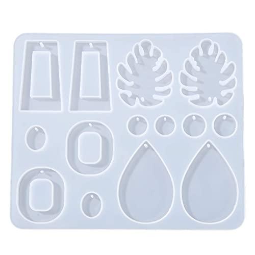 aretes de plata para mujeres aretes,Moldes de resina de silicona Moldes de resina para joyería Moldes de fabricación de colgantes para bricolaje Pendientes colgantes hechos a mano Molde de sil