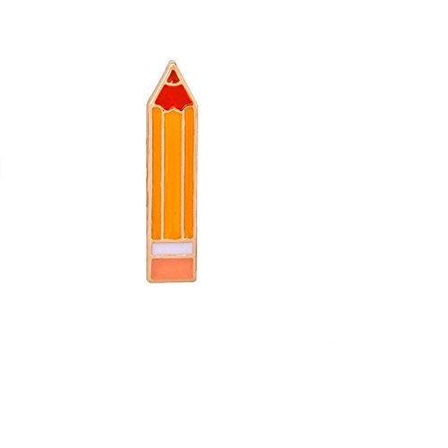 Adisaer Damen Anzug Zubehör Brosche Emaille Bleistifte Broschen Orange Rot Mädchen 1 Stück Geschenk