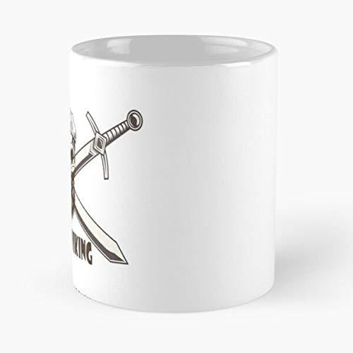 Taza de café de cerámica Pagan Floki Ragnar Tribal Nordic Vikings Vikingos Best 11oz Eat Food Bite John Best Taza de café de cerámica de 325 ml
