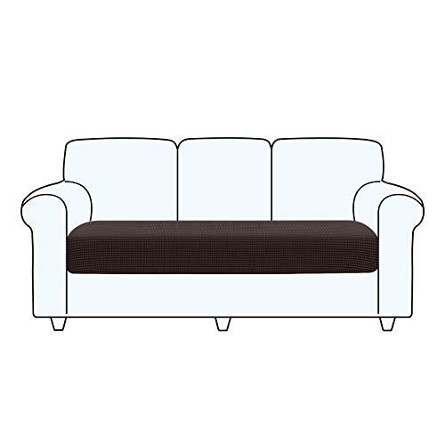 TAOCOCO Copriseduta Divano Elasticizzato Alta qualità Protezione del Cuscino Sedile del Divano Lavabile (3 Posti, Marrone Cioccolato)