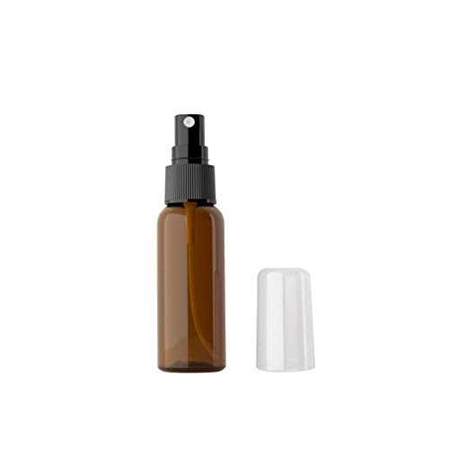 Moligin Botella De Spray De Agua Botella De Nebulización Amber Amber Trigger Tright Spray Botble Reusable para Los Productos De Limpieza De Cuidado De La Piel De Belleza Bio 100ml