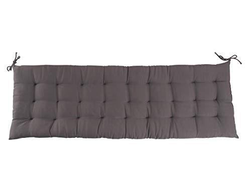CB Home & Style Bankauflage Bankkissen 4 cm dick Sitzpolster Bank Gartenbank Auflage (150 x 40 cm, Anthrazit)