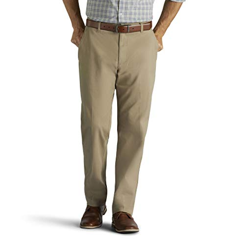 Lee Men's Performance Series Extreme Comfort Relaxed Pant, Khaki, 40W x 32L