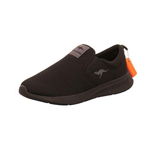 KangaROOS Herren KL-A Saboo Slip Sneaker, Jet Black/Mono 5500, 43 EU