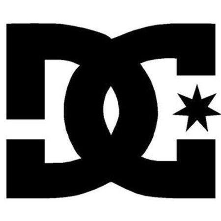 Aufkleber DC SHOE COMPANY LOGO Vinyl Decal/Sticker 127mm White