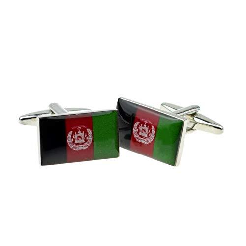 Afghanistan vlag manchetknopen met geschenkdoos & verzonden uit het Verenigd Koninkrijk