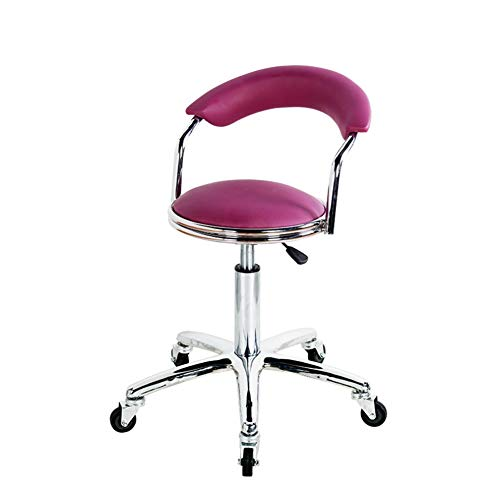 Barberstoel, Schoonheidsstoel, Barkruk, Lifting, Draaibare stoel Paars