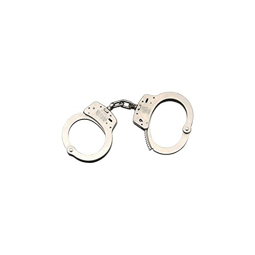 Smith & Wesson M100-1 Chain Handcuffs, Nickel Plated