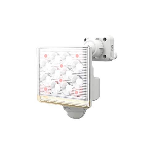 ムサシ RITEX フリーアーム式高機能LEDセンサーライト(12W×1灯) 「コンセント式」 LED-AC1015 ホワイト