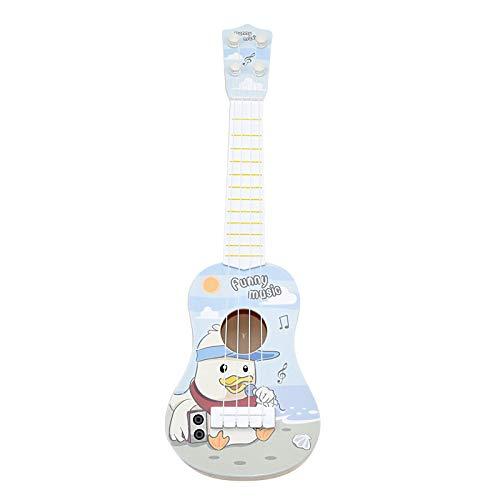 ギター 子供用 おもちゃ ウクレレ こども用 4弦 初心者 楽器玩具 知育玩具 かわいい ミニギター 18カラー (スマートアヒル)