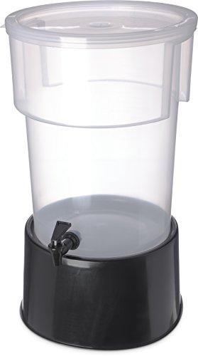 Carlisle 222903 Polypropylene Round Beverage Dispenser with Base, 5 gal. Capacity, 12-3/8
